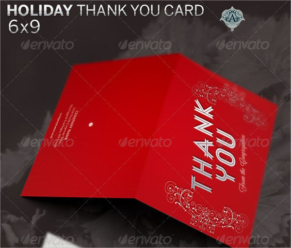 business holiday thank you card