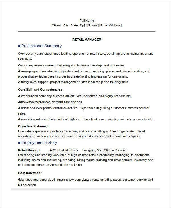 Manager Resume Examples - 24+ Free Word, Pdf Documents Download