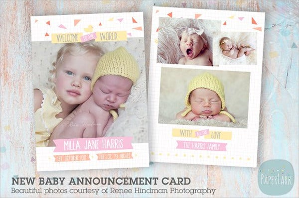 new baby thank you card