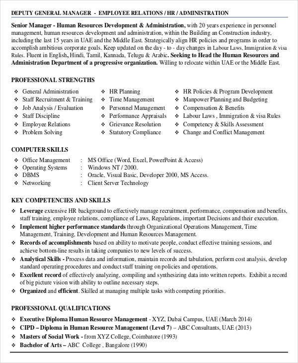 general administration resume in pdf