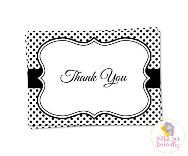printable black and white thank you card