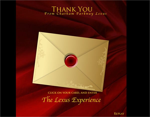 animated thank you card