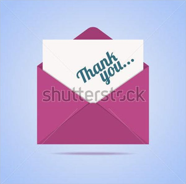 email thank you card