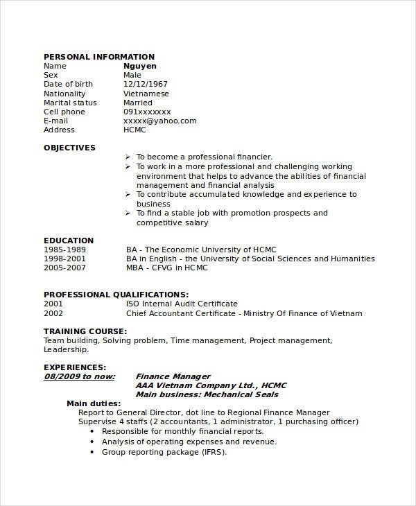 manager resume sample templates 44 free word pdf documents