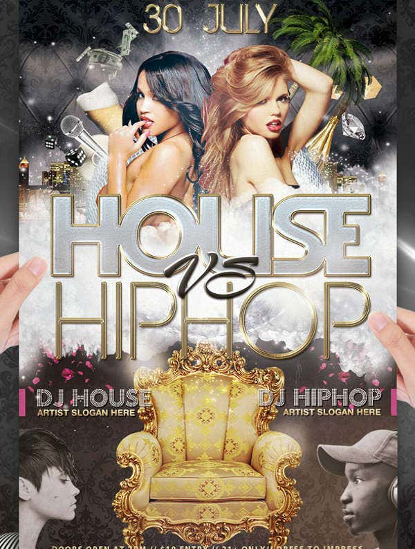 Hip Hop House Party Flyer