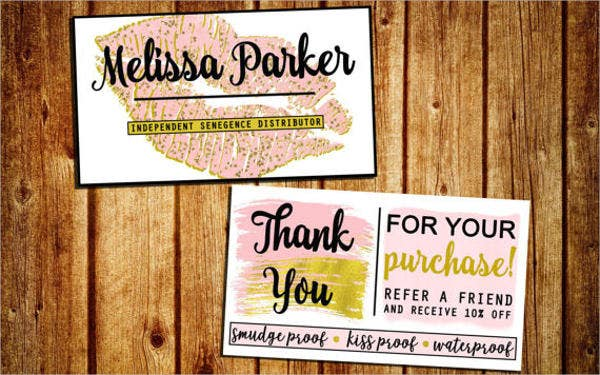 referral thank you card