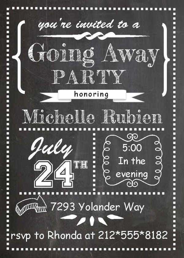 Employee Going Away Party Flyer