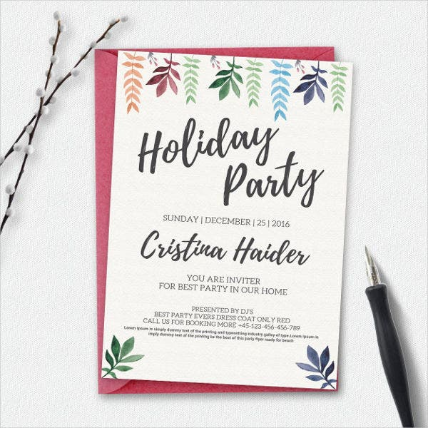 Corporate Holiday Party Flyer