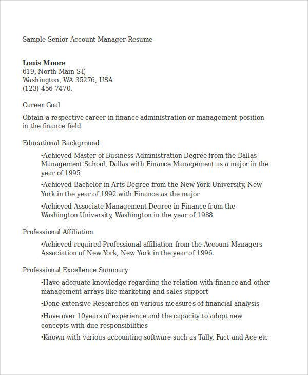 senior account manager resume3