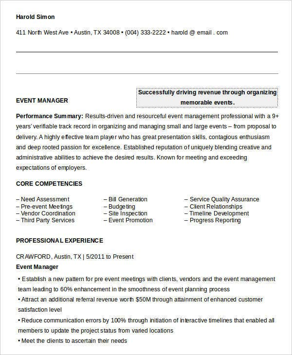 Free Manager Resume Templates - 40+ Free Word, PDF Documents ...