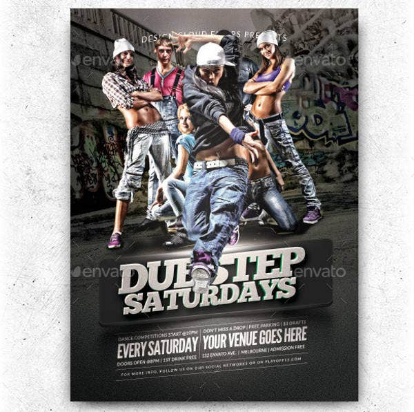 Hip Hop Dance Party Flyer