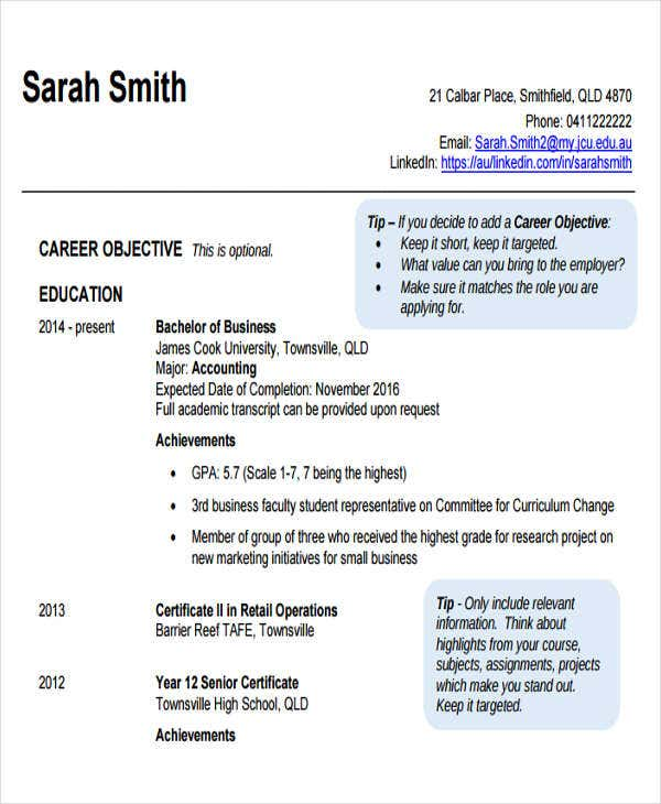small business accounting resume