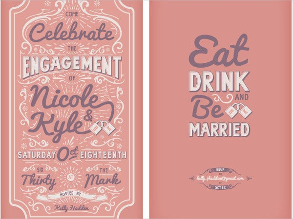 free sample engagement invitation card2