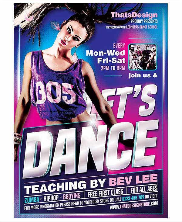 Hip Hop Dance Fitness Flyer