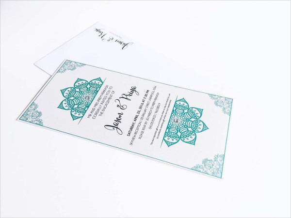 free printable elegant engagement invitation2