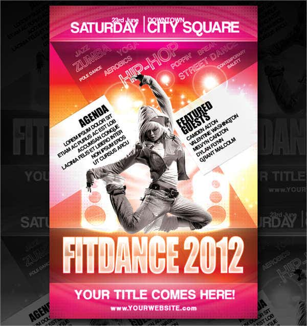 Dance Club Fitness Flyer