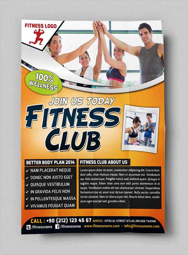 Free PSD Family Fitness Flyer