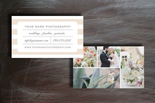 -Wedding Photography Business Card
