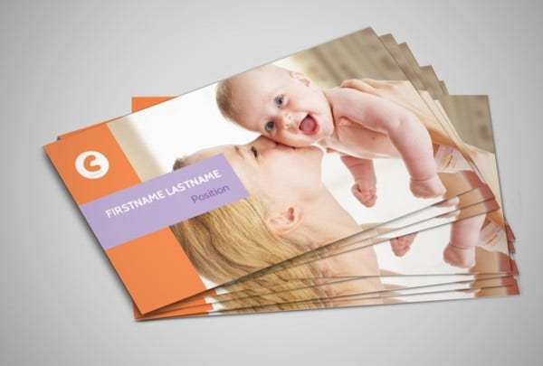 -Baby Photography Business Card