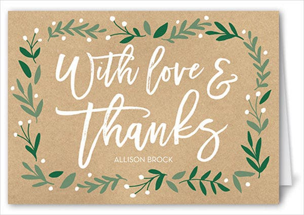 bridal shower hostess thank you card