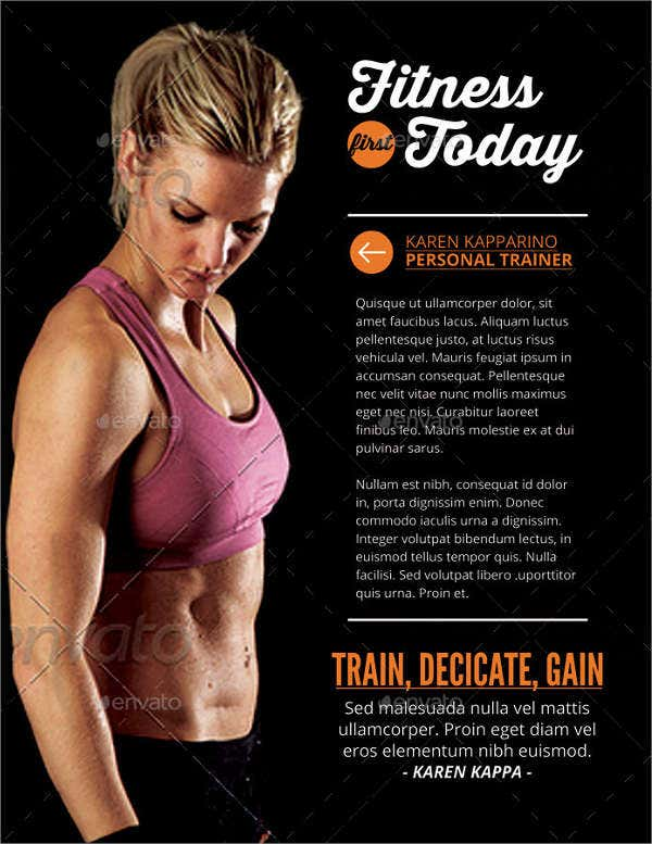 Women's Fitness and Health Flyer