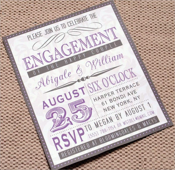 free personalized engagement card invitation1
