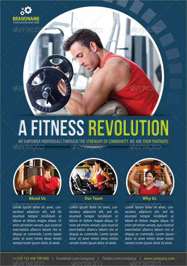 Corporate Team Building Fitness Flyer