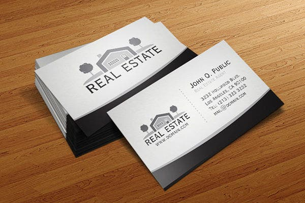 Sample business cards free premium templates real estate agent business card reheart Choice Image