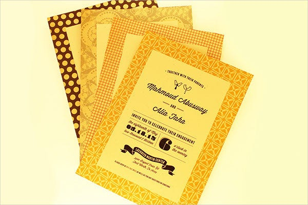 free sample engagement invitation vector1