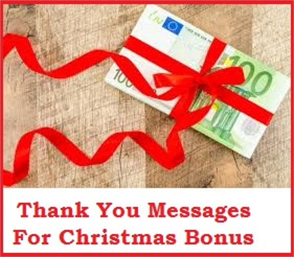 christmas bonus thank you card