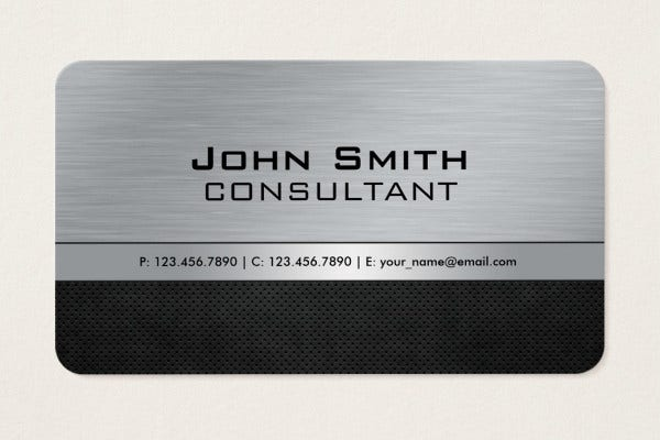 -Metal Real Estate Business Card