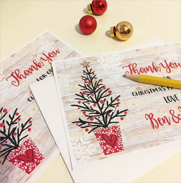 personalised christmas thank you card1