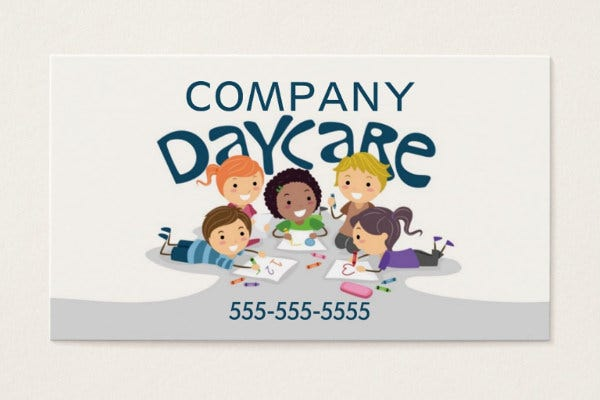 -Company Daycare Business Card
