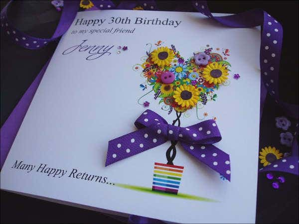 handmade ladies birthday card1
