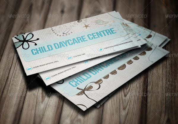 -Printable Daycare Business Card