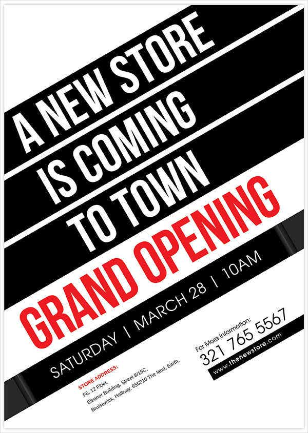 Business Grand Opening Invitation Flyer  Flyer Examples