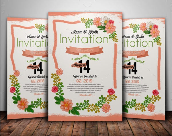 floral engagement party invitation4