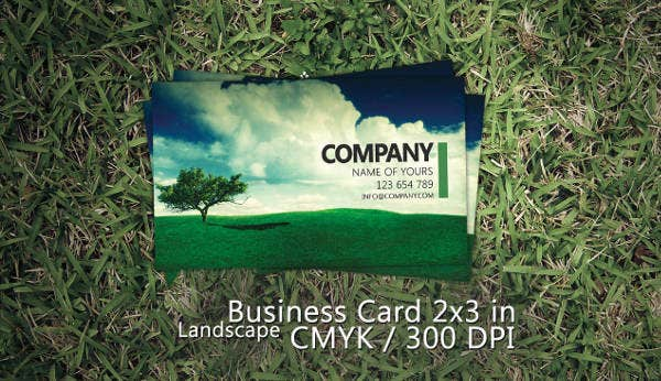 -Printable Landscaping Business Card