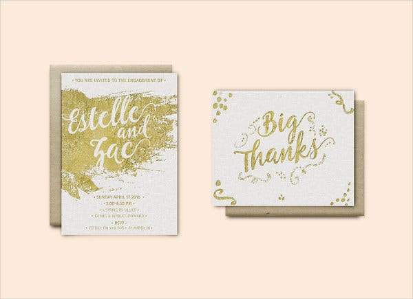 elegant engagement party invitation1