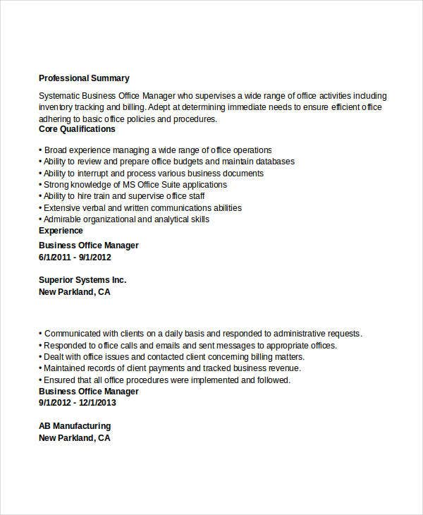 business office manager resume2