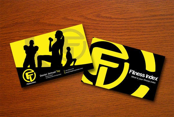 -Fitness Coach Business Card