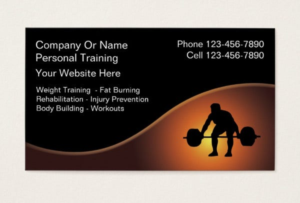 -Physical Fitness Business Card
