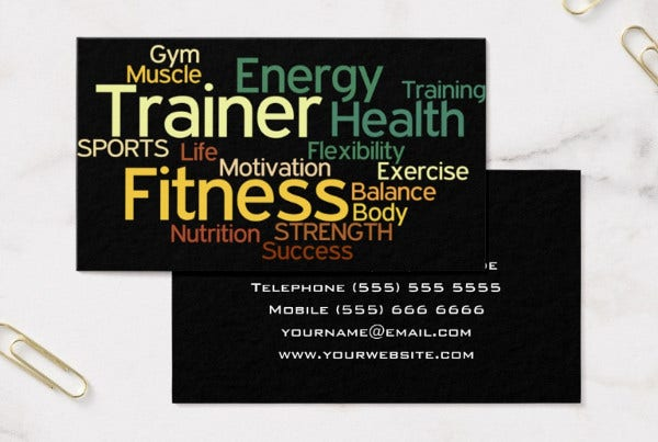 -Fitness Professional Business Card