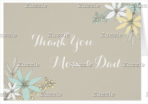 thank you parents greeting card