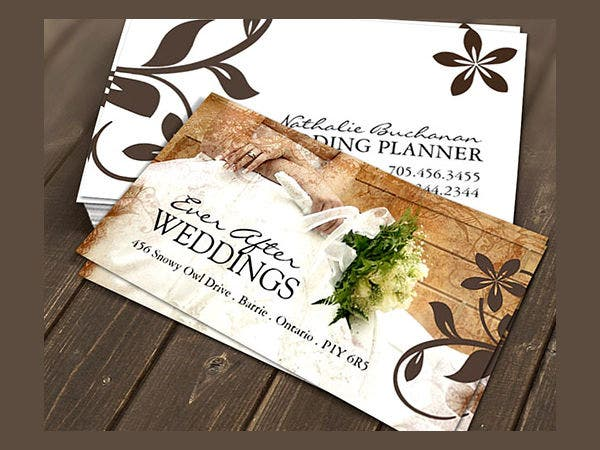 -Wedding Coordinator Business Card