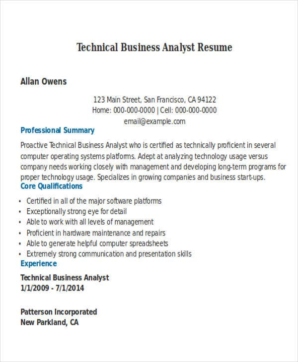 27 business resume templates download free premium