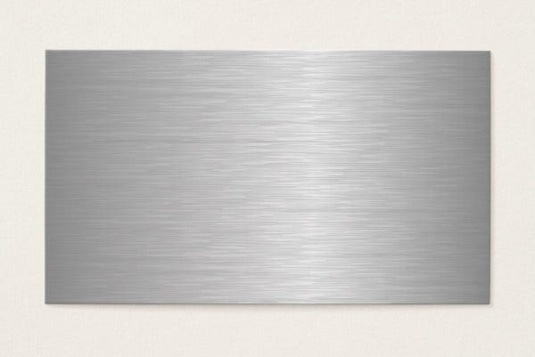 -Blank Metal Business Card