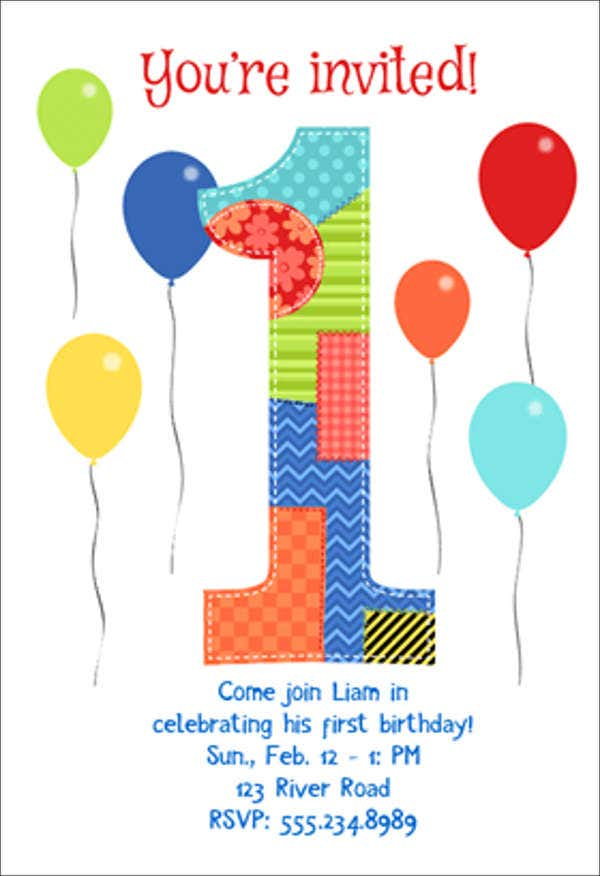first birthday invitation card5