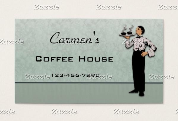 restaurant server business card