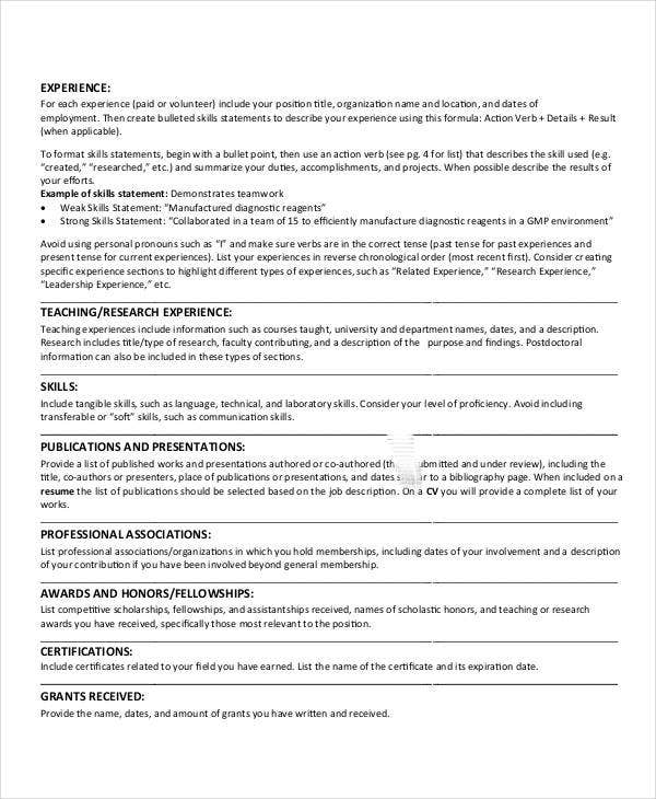 Best Education Resume Templates - 21+ Free Word, Pdf Documents